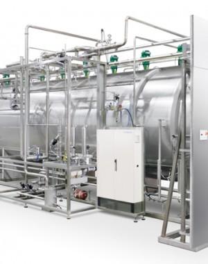 Autoklaw do sterylizacji mieszaniną pary i powietrza
