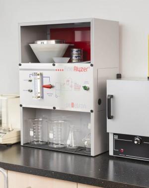 Laboratoryjny analizator zapylenia granulowanych produktów