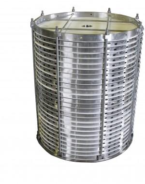 Poziomy filtr płytowy typu Scavenger z przegarnianiem