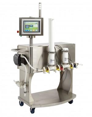 System półautomatycznej filtracji o przepływie prostopadłym