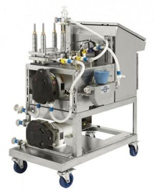System półautomatycznej filtracji o przepływie stycznym