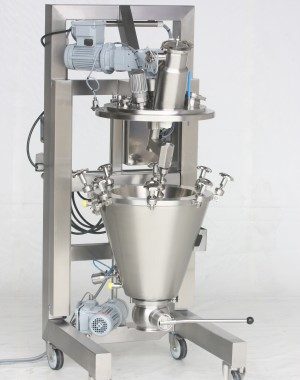Laboratoryjna stożkowa suszarka podciśnieniowa z mieszadłem ślimakowym