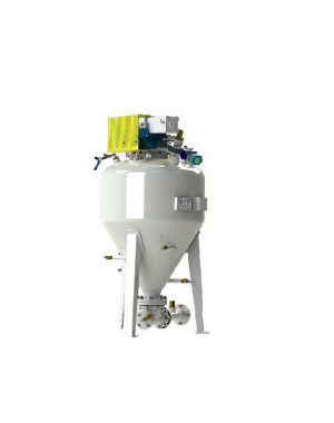 Przenośnik pneumatyczny w fazie gęstej do substancji bez szczególnych własności ściernych