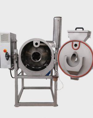 Kompaktowy cylindryczny prażalnik do ziaren, śruty i orzechów kakaowca
