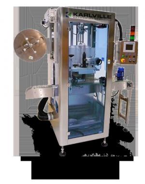 Urządzenie do nakładania rękawów na puszki w liniach z niższą wydajnością