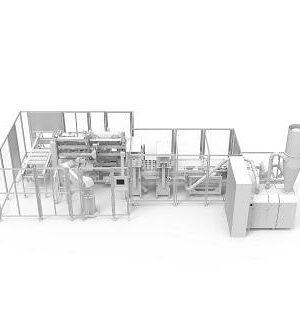 Zautomatyzowana maszyna pakująca do czekoladowych figurek