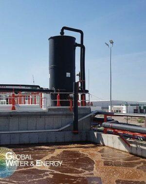 Skruber do usuwania siarkowodoru z biogazu