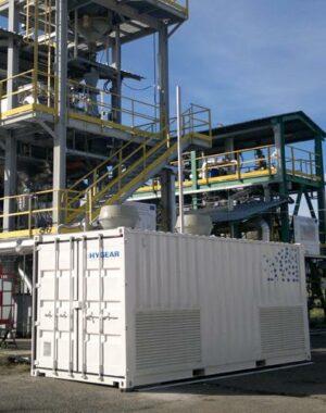 Kontenerowy system oczyszczania wodoru