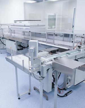 Przemysłowa maszyna do napełniania szalek Petriego