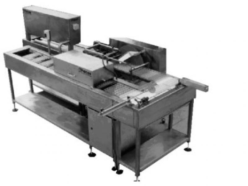 Półautomatyczna linia do formowania pełnych czekoladek