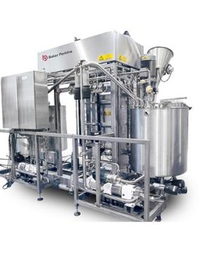 Całkowicie zautomatyzowany kocioł do syropów z funkcją mieszania i powlekania składników zbożowych