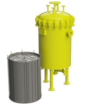 Przemysłowy system filtracji cieczy